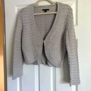 Banana Republic Cropped Gray Sweater Size Large